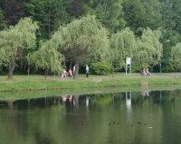 Spacer w parku w Kazimierzu Górniczym